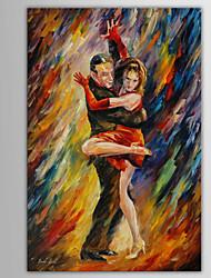 pessoas pintados à mão / paisagem abstrata / abstrata moderna pintura a óleo do retrato, lona, um painel