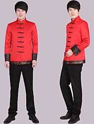 Trajes(Rojo,Poliéster,1 Pieza)- deA Medida