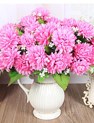 7 Heads High Quality Golden Chrysanthemum Flowers Silk Flower Silk Flower Artificial Flowers for Home Decoration 1pc/set