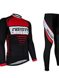 Cycling Jersey with Tights Men's Long Sleeve BikeBreathable / Quick Dry / Anatomic Design / Ultraviolet Resistant / Moisture Permeability