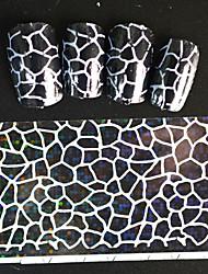 5pcs 20*4cm 2016 New Japanese White  Series Nail Art Irregular Stripes Shape Foils DIY Nail Sticker STZ Jw13