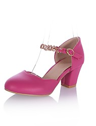 Women's Shoes Leatherette Chunky Heel Heels Heels Office & Career / Party & Evening / Casual Green / Pink / White