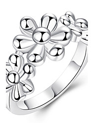 Anéis Pesta / Diário Jóias Prata Chapeada Feminino Anéis Meio Dedo 1pç,7 / 8 Prateado
