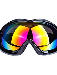 obaolay für Unisex Skibrille lila / gelb Anti-Fog / Anti-UV / bruchsicher / wasserdicht / einstellbarer Größe tpu pc / uv