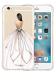 Pour Coque iPhone 6 Coques iPhone 6 Plus Antichoc Transparente Motif Coque Coque Arrière Coque Femme Sexy Flexible Silicone pouriPhone 6s