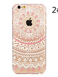 Para iPhone X iPhone 8 iPhone 7 iPhone 7 Plus iPhone 6 iPhone 6 Plus Carcasa Funda Diseños Cubierta Trasera Funda Mandala Dura