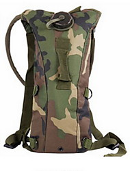 2.5 L Hydration Pack & Water Bladder Camping & Hiking / Cycling/Bike Outdoor Multifunctional Camouflage TPU