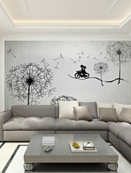 JAMMORY Mural Wallpaper Bedroom TV Background Wallpaper Romantic Dandelion Seamless Large - scale Murals  XL XXL XXXL