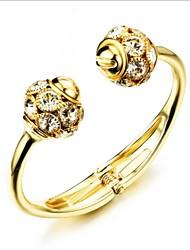 Women's Cuff Bracelet Gold / 18K Gold Plated Rhinestone