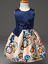 Mädchen Kleid Polyester Sommer Blau