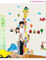 SK2002AB Cube Cartoon Measuring Height Stickers Removable Wallpaper Children Kid Room Living Bedroom