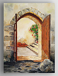 Oil Painting  Landscape Out of the Door Hand Painted Canvas with Stretched Framed Ready to Hang