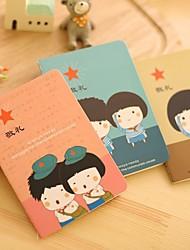 6pcs reizendes Briefpapier Notebook mit dieser Zeit (Stil random)
