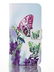For Samsung Galaxy S7 Edge Card Holder / Wallet / with Stand / Flip / Pattern Case Full Body Case Butterfly PU Leather SamsungS7 plus /