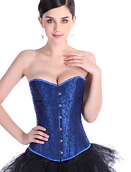 Court bridal lingerie corset belt clip abdomen jacquard strapless blue girly gather breast care