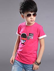 Katoen-Zomer-Boy's-Overhemd