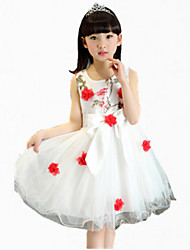 Girl's Pink / Purple / Red Dress,Floral Cotton Summer