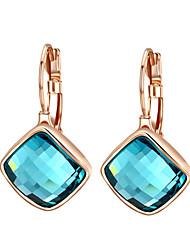 Cristal Moda Forma Geométrica Roxo Azul Jóias Para Casamento Festa