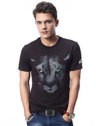 Men's Short Sleeve slim fit T-Shirt,Cotton Casual Print