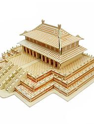 el pasillo de madera suprema armonía 3d rompecabezas juguetes de bricolaje
