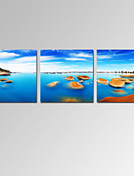 VISUAL STAR®Stretched Seascape Canvas Prints Beach Scenery Canvas Pictures Ready to Hang