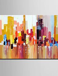 dibujar la mini pintura al óleo del tamaño de correo dirigen el color modelo moderno edificio abstracta pura mano de pintura decorativa