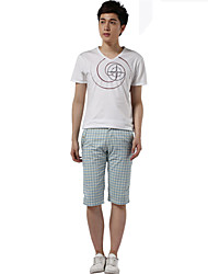 Pantaloncini Uomo Casual A quadri Cotone Verde