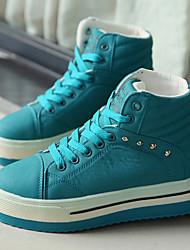 Scarpe Donna-Sneakers alla moda-Tempo libero / Casual / Sportivo-Comoda-Piatto-Finta pelle-Nero / Blu