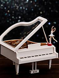 forme de piano pour la musique elise boîte en plastique blanc / or