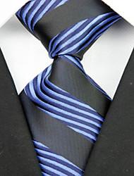 Krawatte(Schwarz / Blau,Polyester)Gestreift
