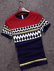 2016 new summer men's T-shirt short sleeved T-shirt Japanese fashion leisure Men T-shirt tidal ventilation