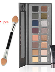 Lorac Pro Cosmetics Makeup Set(16 Colors Luminous Eye Shadow Palette+1PCS Eye Primer Base+  10PCS Eye Shadow Brush)