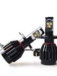 2pc 60w автомобиля Cree LED лампы накаливания заменить h1 h3 H7 H9 H10 H11 9012 5012 9005 9006 автомобиль Cree LED фара