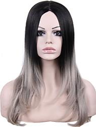 """24 """"femmine moda ombre parrucca bicolore economici ricci parrucche sintetiche"""