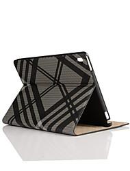9,7 pouces motif de grille textile et étui en cuir avec support pour iPad pro 9.7 (couleurs assorties)