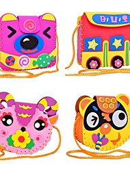 Educational Toy DIY Baby Cartoon Handwork Backpack Handcraft Single-Shoulder Bag Handmade Kids Hobbies Toys 3D Puzzle