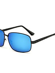Sunglasses Men's Fashion Rectangle Black / Silver / Gold Sunglasses Full-Rim