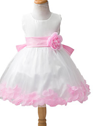 Girl's Dress,Polyester Summer Blue / Pink / Purple / Yellow / Gray