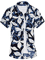 Men's Fashion Casual Short Sleeved  Printing Shirt  Plus Sizes