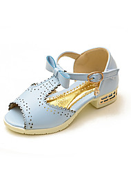 Girls' Shoes Dress / Casual Peep Toe / Comfort / Open Toe Sandals Blue / Pink / Beige
