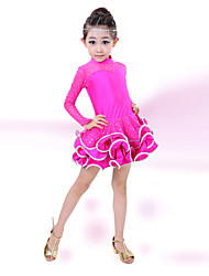 Latin Dance Children's Fashion Performance Cotton Rhinestones Dresses Dance Costumes
