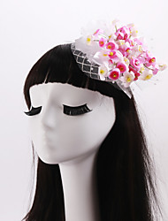 Women's / Flower Girl's Fabric / Net Headpiece-Wedding / Special Occasion / Casual Flowers 1 Piece