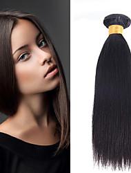 1pcs cabelo humano brasileiro cabelo liso tece cor natural do cabelo virgem 8-26 polegadas