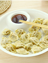 Dumpling dish with vinegar draining board fruit dish
