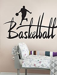 New Basketball Inspirational Proverbs Wall Stickers For Kids Boys Rooms Decor Diy Art Decal Dunk Removable Wall Sticker