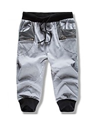 Men's Sweatpants,Sport / Plus Sizes Patchwork Cotton
