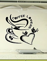 Hot Sale Coffee Lovers Theme Vinyl Wall Stickers Art Mural Home Decor Decal Adesivo De Parede Wallpapers Home Decoration