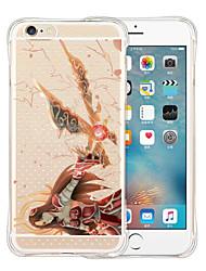 Justiça orienta-nos parte traseira do silicone estojo transparente para iphone 6 / 6s (cores sortidas)