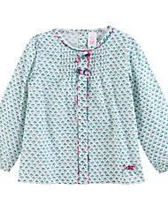Girl's Shirt,Cotton Spring / Fall Blue