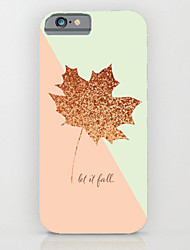 The Leaves Pattern PC Phone Case Hard Back Case Cover for iPhone5/5S